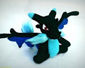 Pokemon Inspired Crochet Amigurumi Mega Charizard X Kawaii Style Plush