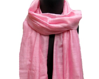 SALE! was 16 USD now.......Pink, long lace scarf/ stole in silk.