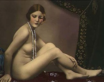 Risque erotic nudes postcards and photos x 49 pdf download and print just 99p all coloured from the deco period mature content