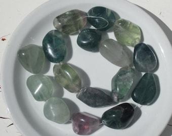 Fluorite gemstone  beads - large