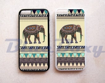 Elephant Aztec Geometric - iPhone 8, 8 Plus, iPhone X, iPhone 7, 7 Plus, iPhone 6 Case, iPhone 6s, iPhone 6 Plus, iPhone 5/5s, iPhone 4/4s