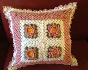 Girly decorative pillow cover.