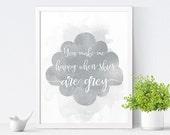 Printable Nursery Art, You Make Me Happy, Kids Room Decor, Nursery Decor, Kids Wall Art, Gender Neutral, Instant Download