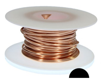 Copper Wire Half Round 14ga 1.63mm Soft (Approx. 41ft)  (CHRW14)