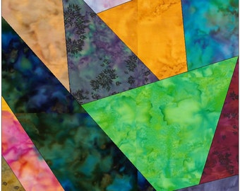 Crazy Patch 9 Paper Foundation Piecing Quilting Block Pattern