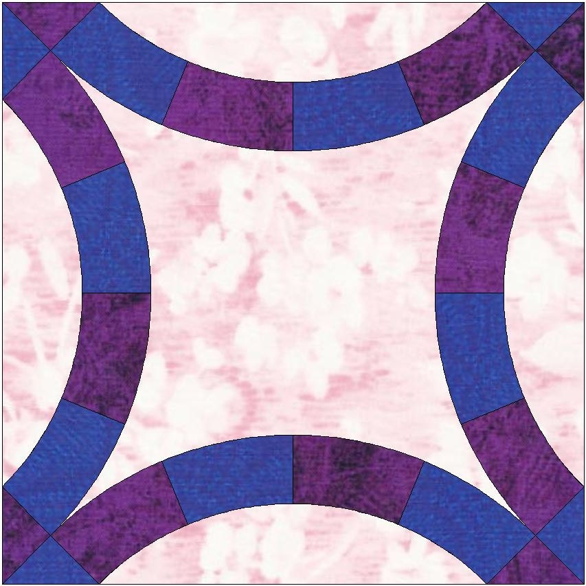 Double Wedding Ring Paper Piece Templates Quilting Block