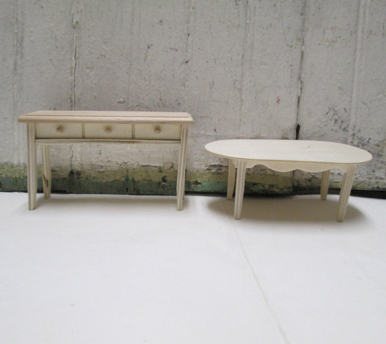Unfinished Doll House Furniture Kit Diy Wooden Dining Toom