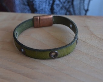 leather strap with Snap Fastener