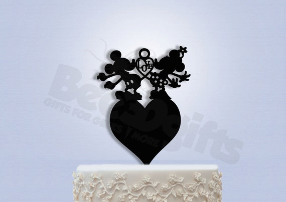 mickey and minnie silhouette wedding cake topper mickey and minnie wedding cake topper by bee3dgifts on etsy 17345