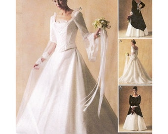 McCall's Sewing Pattern 3449 Misses' Bridal Gown and Bridesmaid Dress  Size:  A 6-8-10  or  FW  18-20-22 Uncut
