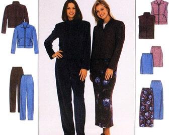 Simplicity Sewing Pattern 8398 Misses' Jacket, Vest, Skirt, Pants   Size:  K  8-10-12  Uncut
