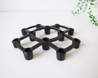 Aïda Kronborg Design, Denmark , Modern Cast Iron Candle Holder Denmark 60s/70s
