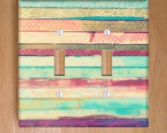 Artist Vinyl Double Light Switch Cover. Photography Modern Art, Home Decor, Apartment Decor, Vinyl Stickers, Stripes, Art Decor, Dorm Decor