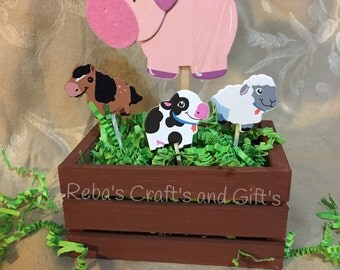 Farm Animal Centerpieces - Pig