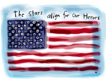 Memorial Day/Patriotic Flag/Digital Print/home decor