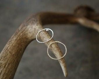 Small Post Hoop Earrings