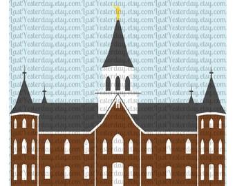 LDS Provo City Center Temple DIGITAL DOWNLOAD svg dxf jpg png