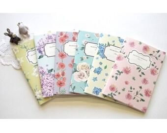 Ruled Notebook [Floral pattern] / Flower Ruled Notebook / Blossom Line Notebook / 10812711