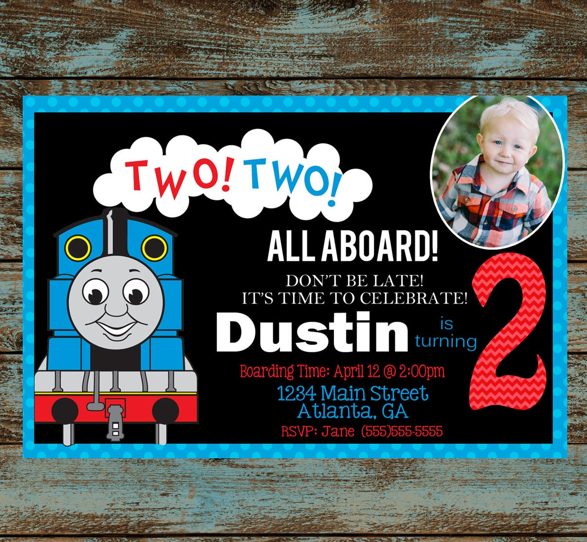 Personalized Thomas The Train Invitations with awesome invitation ideas