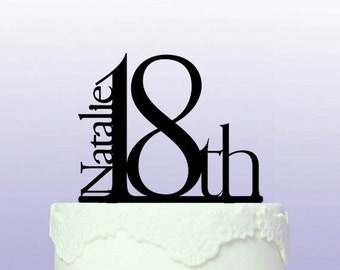 Beautiful 18th Birthday Cake Topper