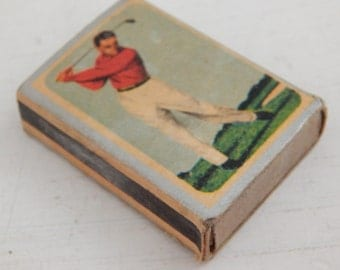 Ohio Blue Tip Golfer Match Box - Vintage c.1963 Match Box - The Ohio Match Company - Golfing Collectible - Match Box Collectible