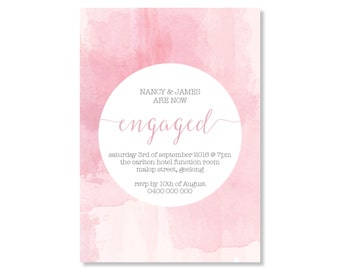 Engagement Invitations 'Watercolour'