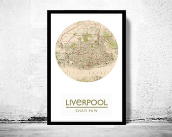 LIVERPOOL - city poster - city map poster print