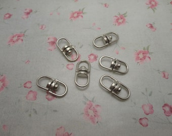 set of 30 , silver gray metal swivel key ring connector , rotatable connector key clasp , 19x8mm, CC3078-30