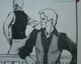 Men's Tailored Vest Chest Size 34-48 Stretch & Sew Pattern 1766