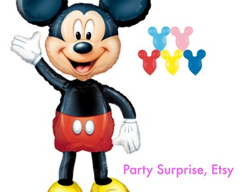 "Mickey Mouse airwalker Balloon package 52""x38"", Mickey Mouse Party Balloons, Big Mickey Mouse balloon"
