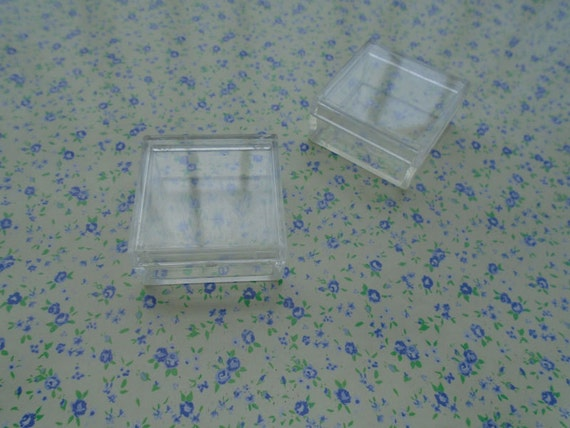 100pcs 353517mm square shape clear plastic box plastic for Square narrow shape acrylic
