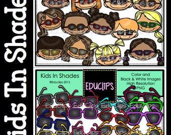 Kids In Shades Clip Art Bundle