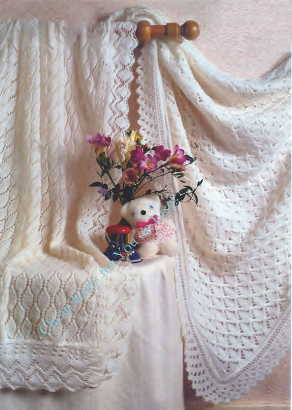 Free Knitting Pattern Baby Christening Shawl : Baby Christening Shawls both 42x42ins . One in 3ply and the