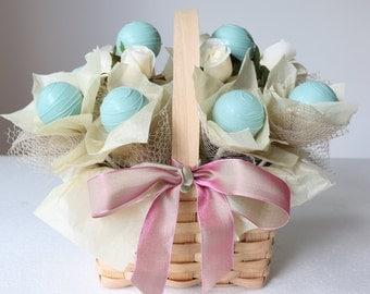 GIFT BASKET Cake Pops Floral Arrangement | Bouquet | 10 set