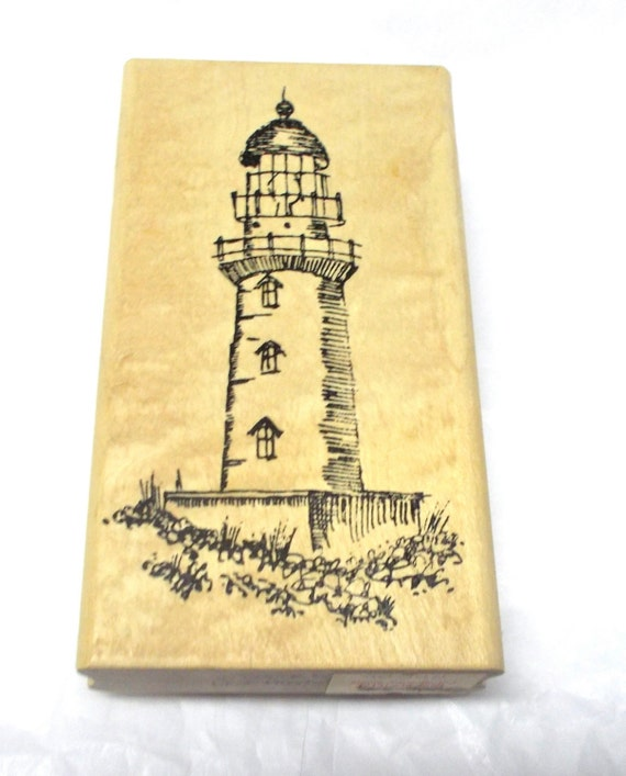 Lighthouse rubber stamp By Stampourri Wood mounted Stamping