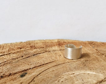 Brushed Sterling Silver Ear Cuff