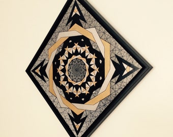 Diamond Trail, 2013. [Framed/Embellished Giclee Canvas]