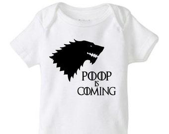 game of thrones onesie, Poop is Coming onesie