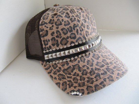 animal print trucker hat womens hats by theapicellaedge