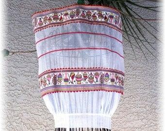 WHITE COTTON SHEER Pottery Apron   - Size 14