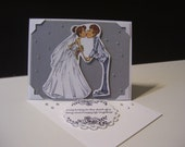 Beautiful Easel  Wedding Card