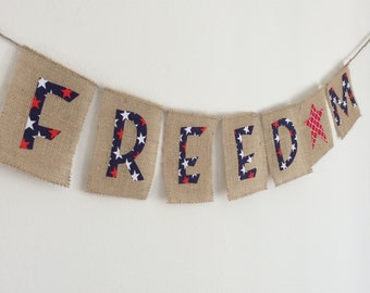 Patriotic Banner, Freedom, 4th of July Banner