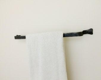 hand forged towel bar towel rack towel rod simple towel bar wrought - Bathroom Towel Bars