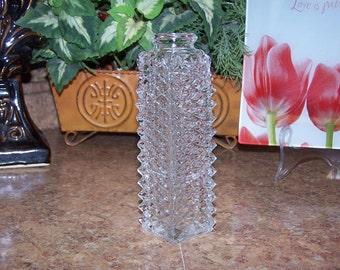 FTD Diamond Cut Glass Vase Bottle