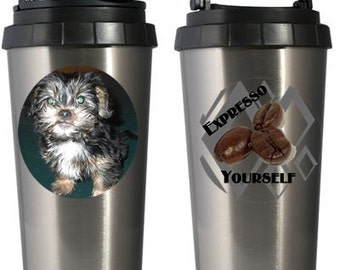 Personalized Stainless Steel Silver 16oz Thermos