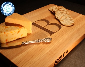 Personalized Cheese Board BOOS Maple Custom Engraved Monogram Wedding Hostess Housewarming Entertain Culinary Epicurean Foodie Gift