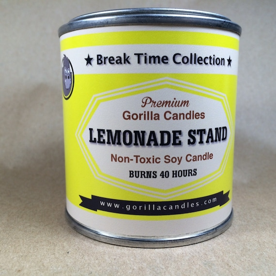Lemonade scented  soy candle  1/2 pint paint can 8 ounce