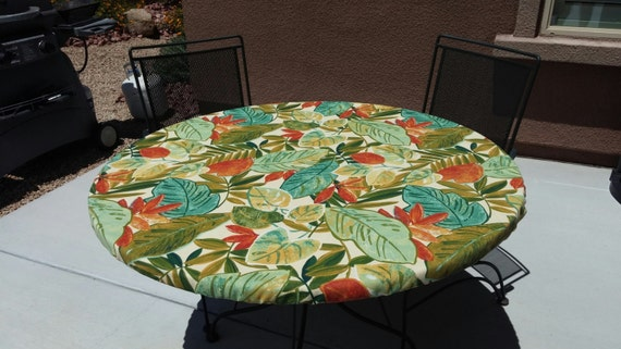 Round Fitted Tablecloth Tablecover Elastic Drawstring