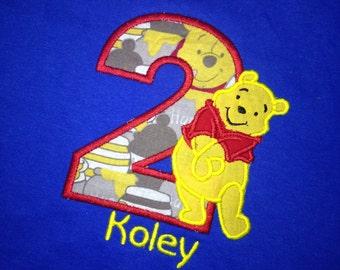 Winnie The Pooh Birthday Shirt , Pooh Bear Birthday Shirt