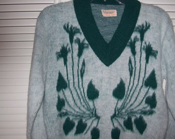 Vintage Featherknits V-Neck Sweater See Front and Back, Special Softy, Small - Medium